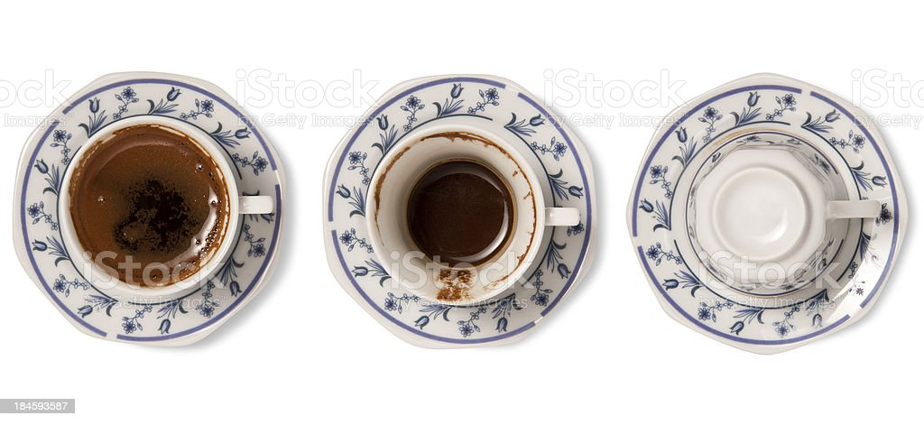 Turkish coffee fortune royalty-free stock photo