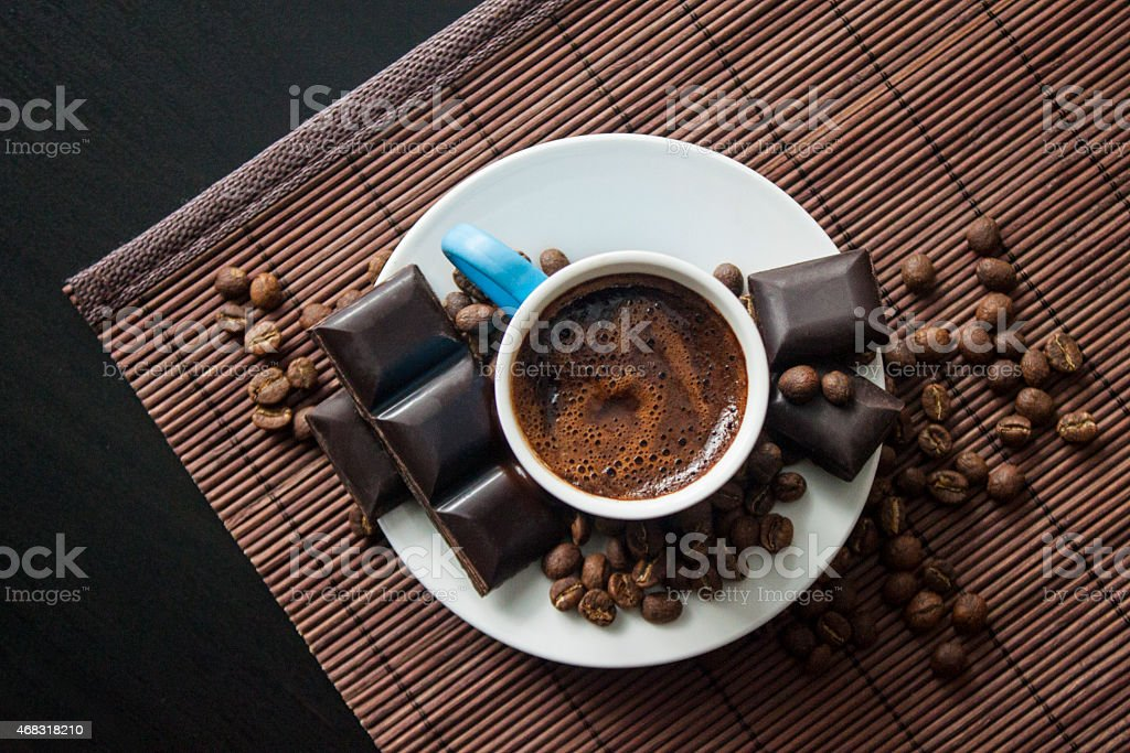 Turkish Coffee from top stock photo