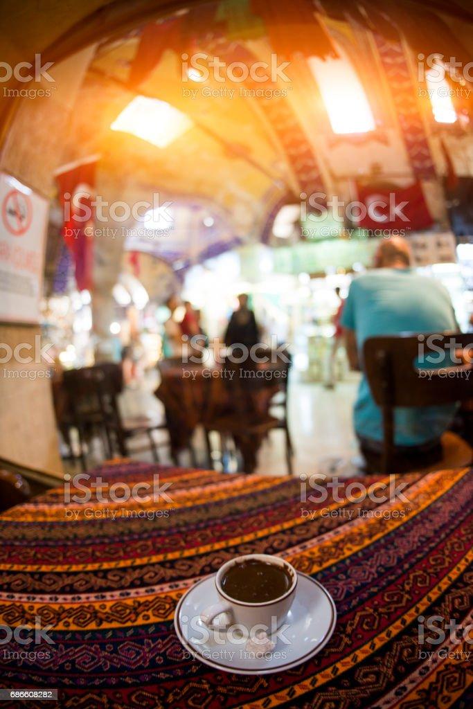 Café turc dans le Grand Bazar. Istanbul Turquie photo libre de droits