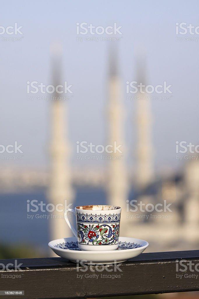 Turkish coffee in Istanbul, Turkey royalty-free stock photo