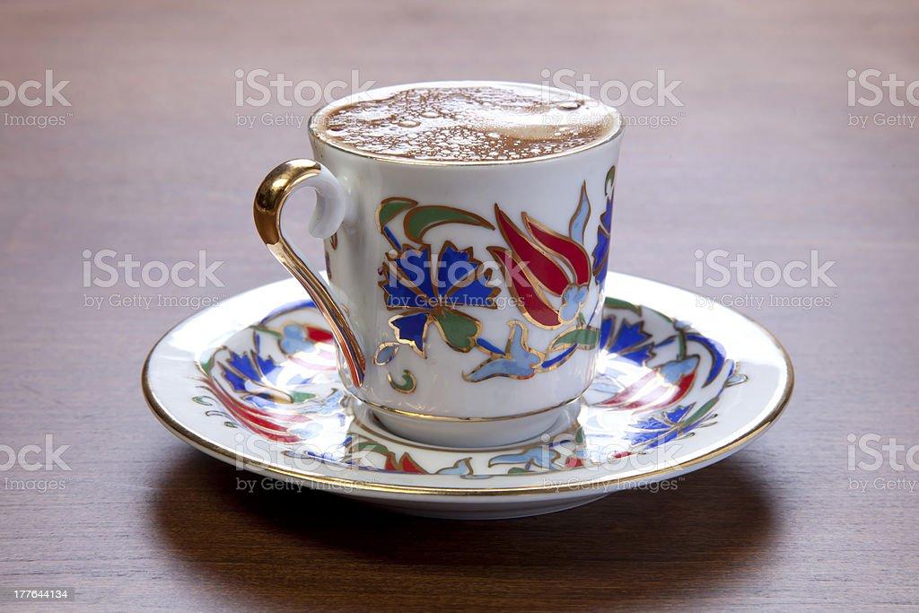 Turkish coffee in studio shot royalty-free stock photo