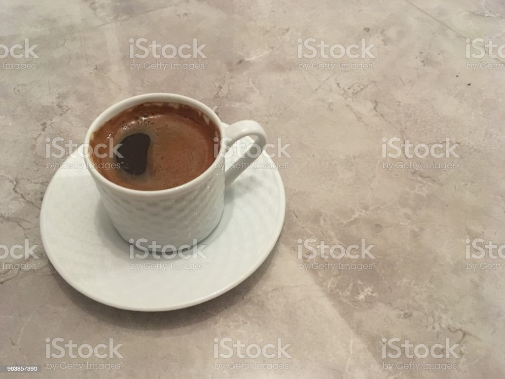 Turkish coffee on the marble background - Royalty-free Brown Stock Photo