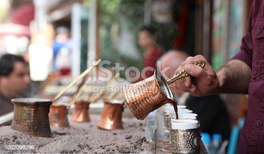 turkish coffee made with coal fire