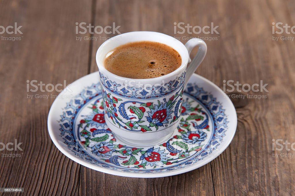 Turkish coffee stock photo