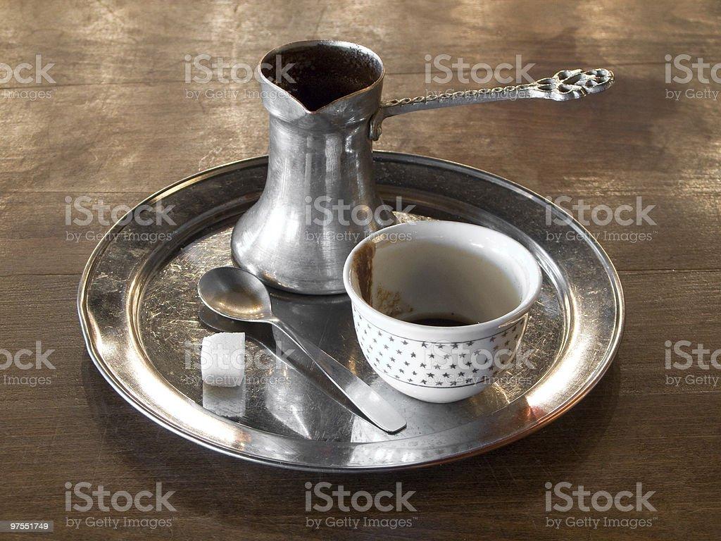 Turc cafetière photo libre de droits