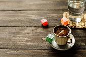 istock Turkish coffee with lokum 687764646