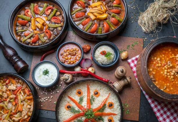 Turkish Cuisine Turkish Cuisine, Turkish Food anatolia stock pictures, royalty-free photos & images