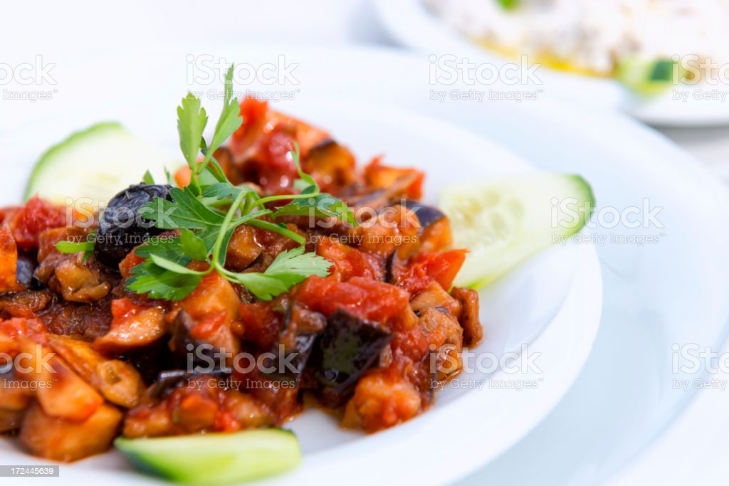 Turkish Cuisine: Shakshuka royalty-free stock photo