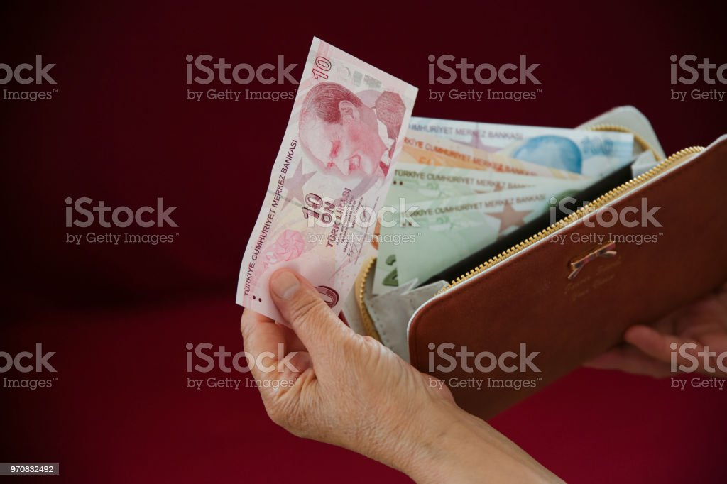turkish currency, money, cash, lira, stock photo