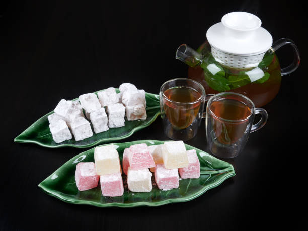 Turkish delight with fruit aroma stock photo