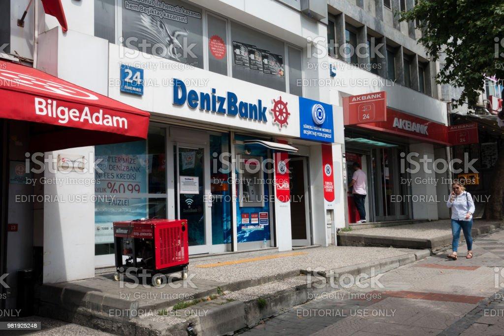 Turkish Denizbank Besiktas branch in İstanbul
