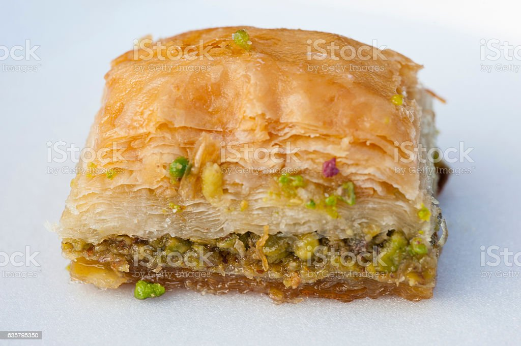 Turkish dessert baklava on plate – Foto