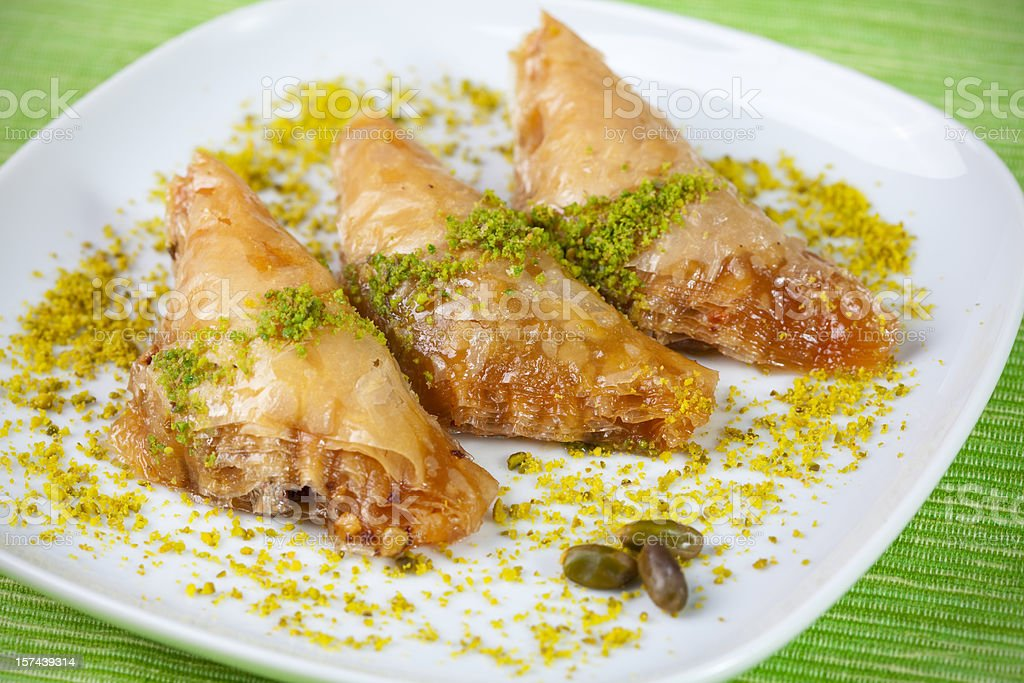 Turkish dessert with syrup - Baklava / Sobiyet royalty-free stock photo