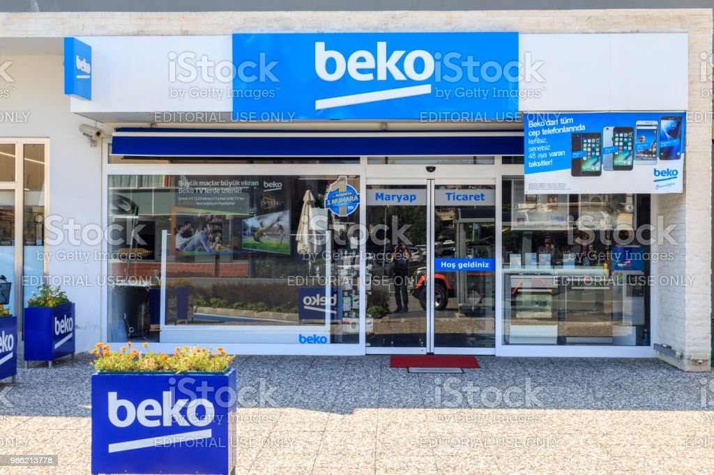Turkish domestic aplliances manufacturer BEKO shop on Engin Boulevard in Marmaris, Turkey