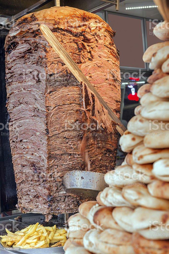 Turkish doner kebab royalty-free stock photo
