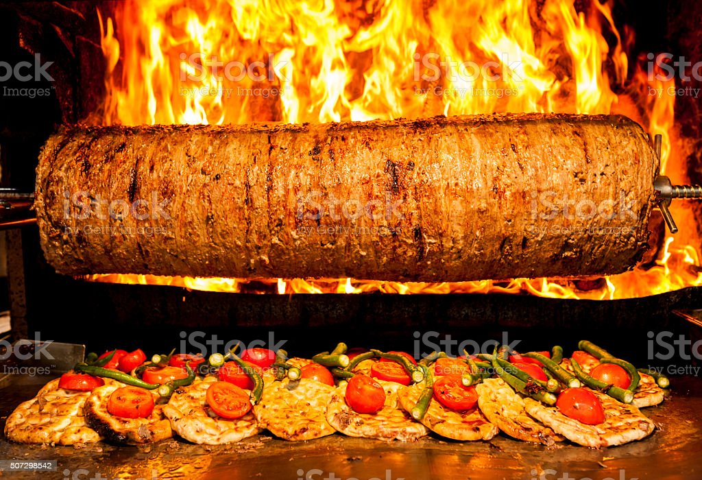 Turkish Doner Kebab stock photo