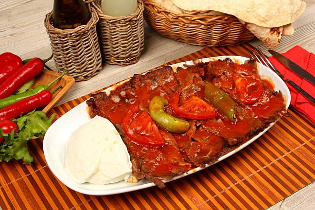 Turkish Doner Kebab with Yoghurt