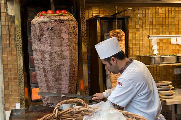 türkische doner kebab - kebab marinade stock-fotos und bilder