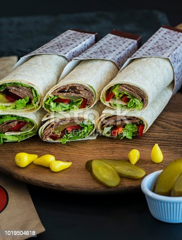 Doner Kebap Wraps With Meat