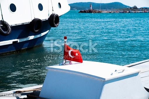 Turkish Flag on the boat