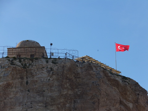 Turkish flag on the hill
