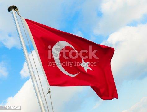 istock Turkish Flag 121039608