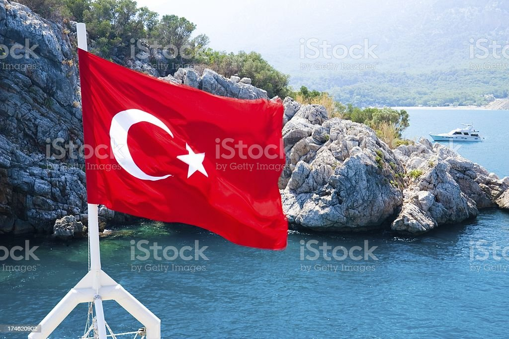 Turkish flag royalty-free stock photo