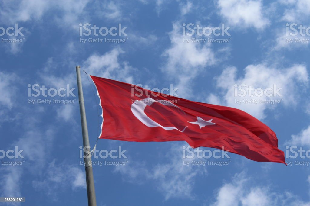 Turkish Flag foto de stock royalty-free