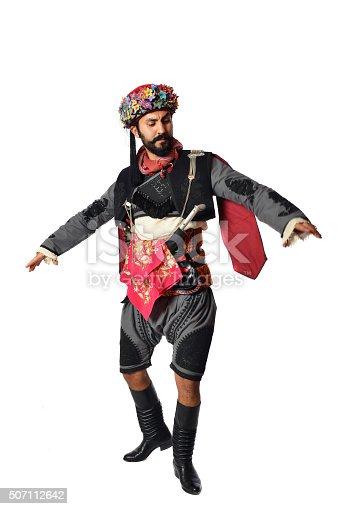 istock Turkish folklore outfit - efe - zeybek 507112642