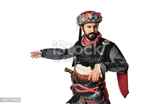 istock Turkish folklore outfit - efe - zeybek 507114504