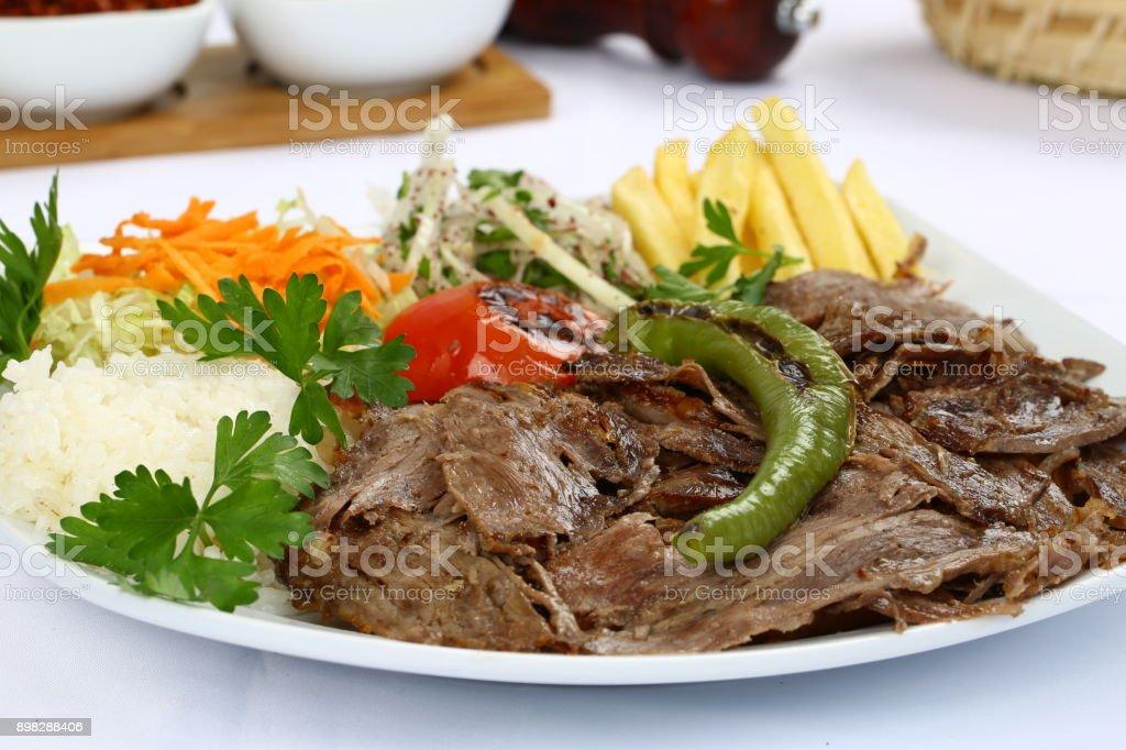 Turkish Food Doner Kebab Plate Stock Photo Download Image Now Istock