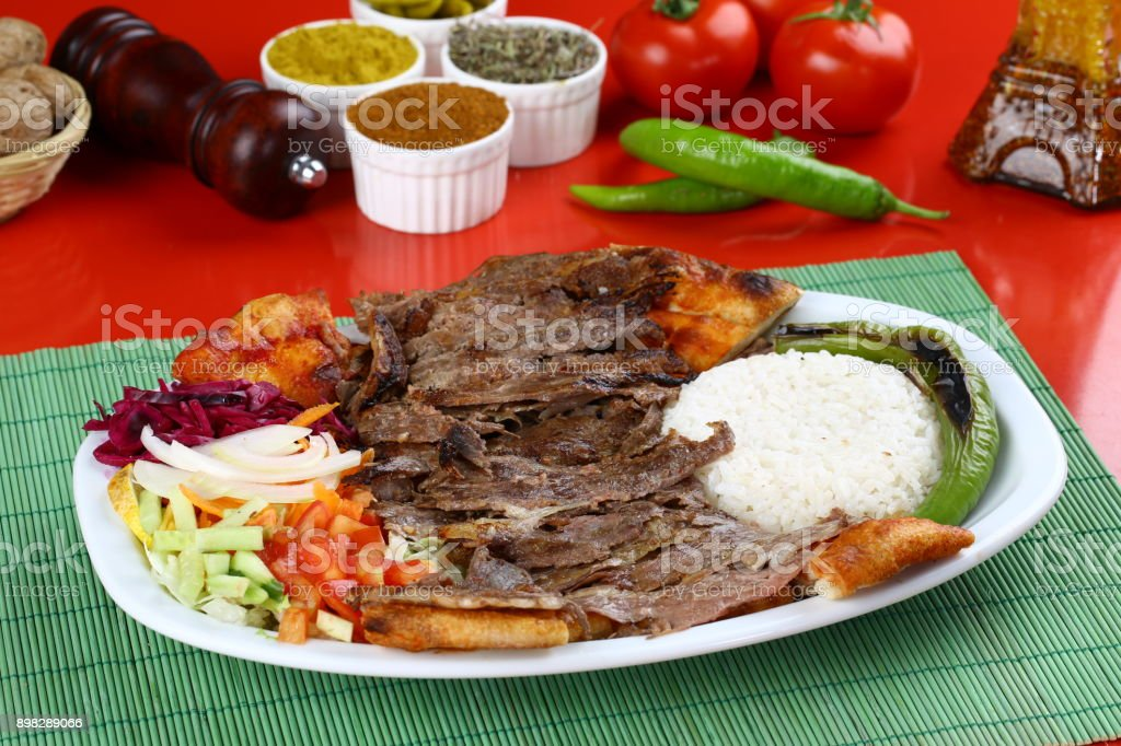 Turkish Food Doner Kebab Plate Stock Photo Download Image Now Istock
