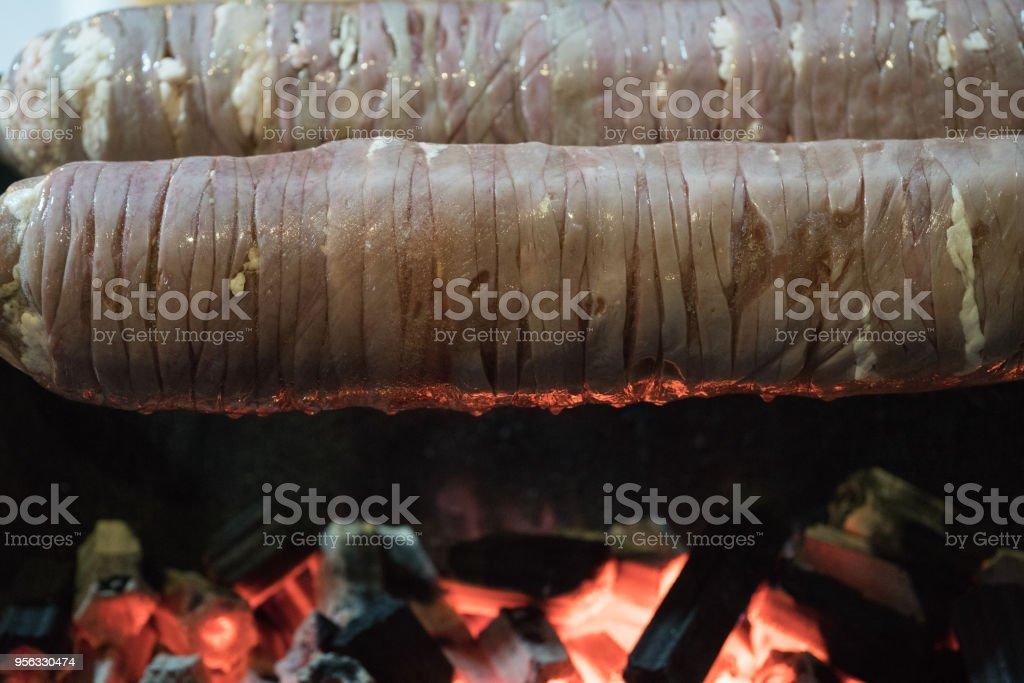 Turkish Food Kokorec stock photo