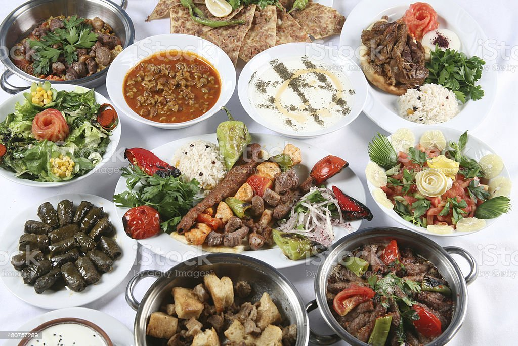 turkish food stock photo