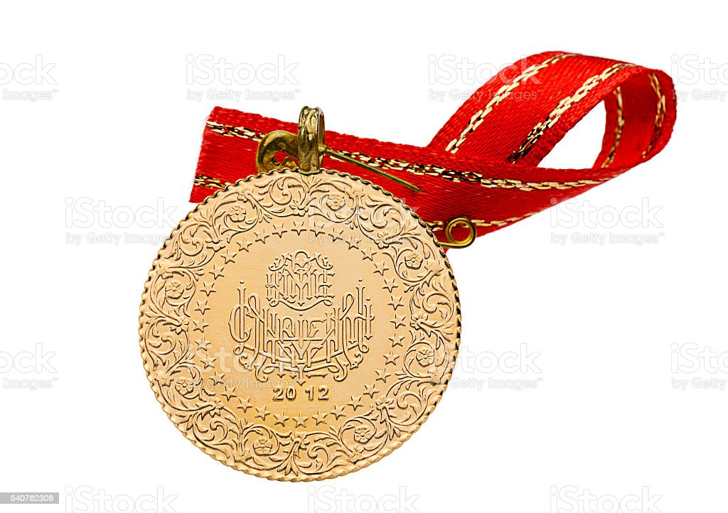 Turkish Gold Coin Isolated Stock Photo & More Pictures of