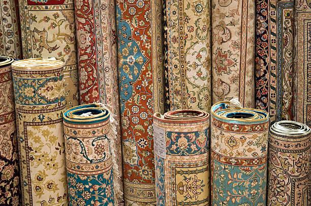 Turkish Hand Made Carpets stock photo