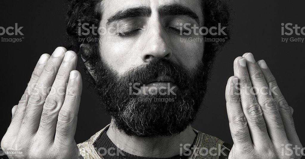 Turkish Imam Praying royalty-free stock photo
