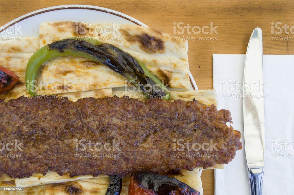 turkish kebab menu stock photo