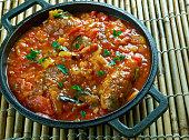 Turkish kofte  with vegetables