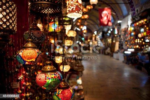 istock Turkish Lamps on display in the Grand Bazaar. 454996645