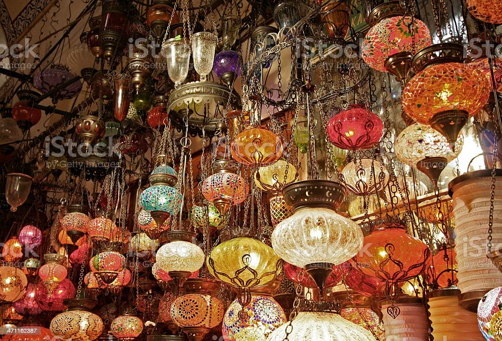 Turkish Lamps royalty-free stock photo