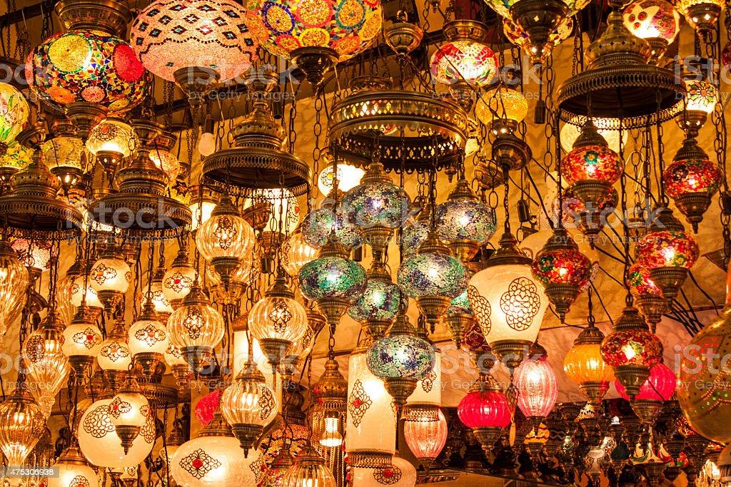 Turkish lanterns stock photo