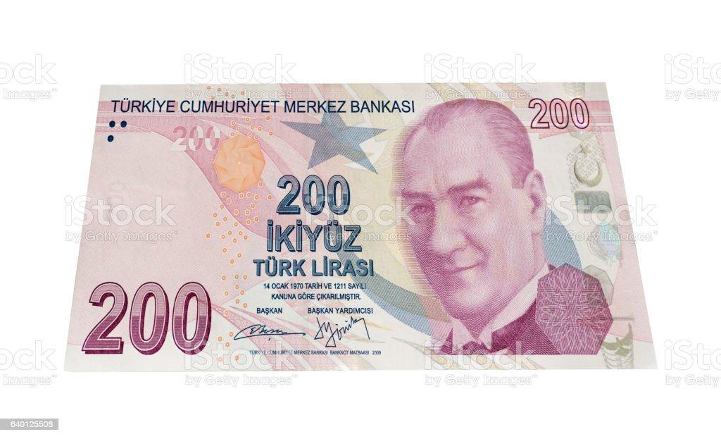 Turkish Lira 200 Banknot stock photo