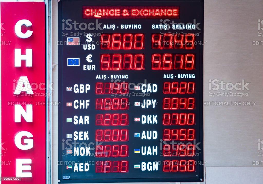 터키 리라 환율 표시 - 로열티 프리 가격 스톡 사진