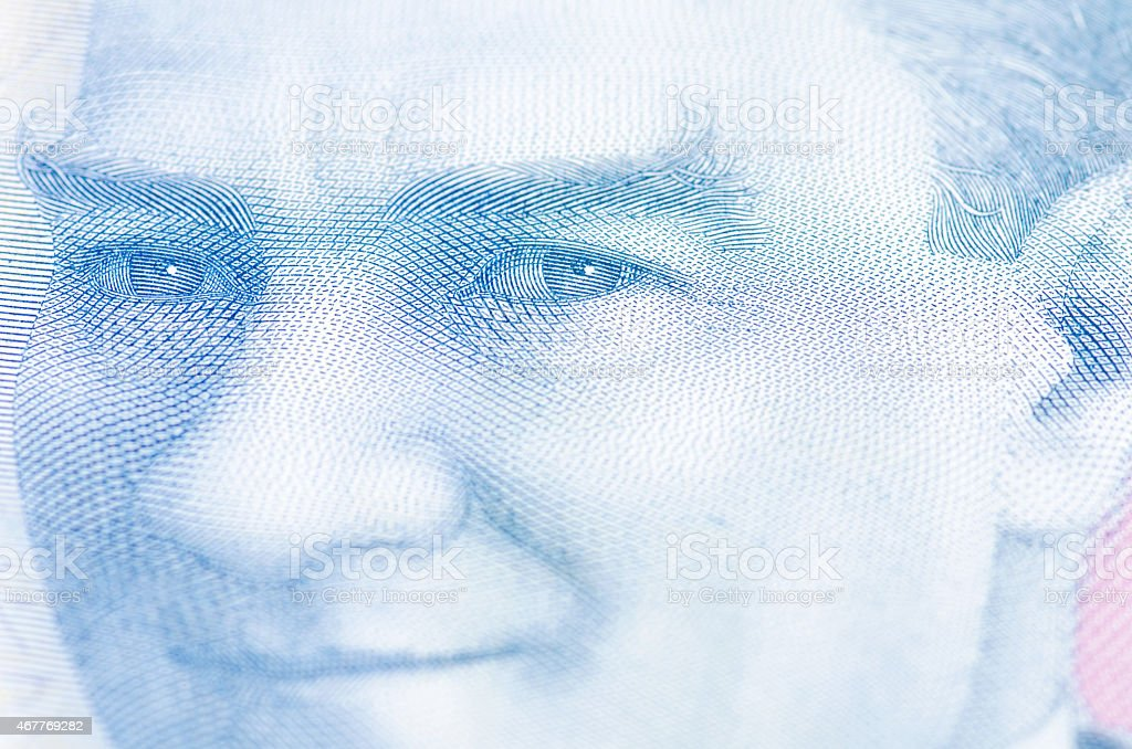 Turkish lira on Ataturk's portrait stock photo