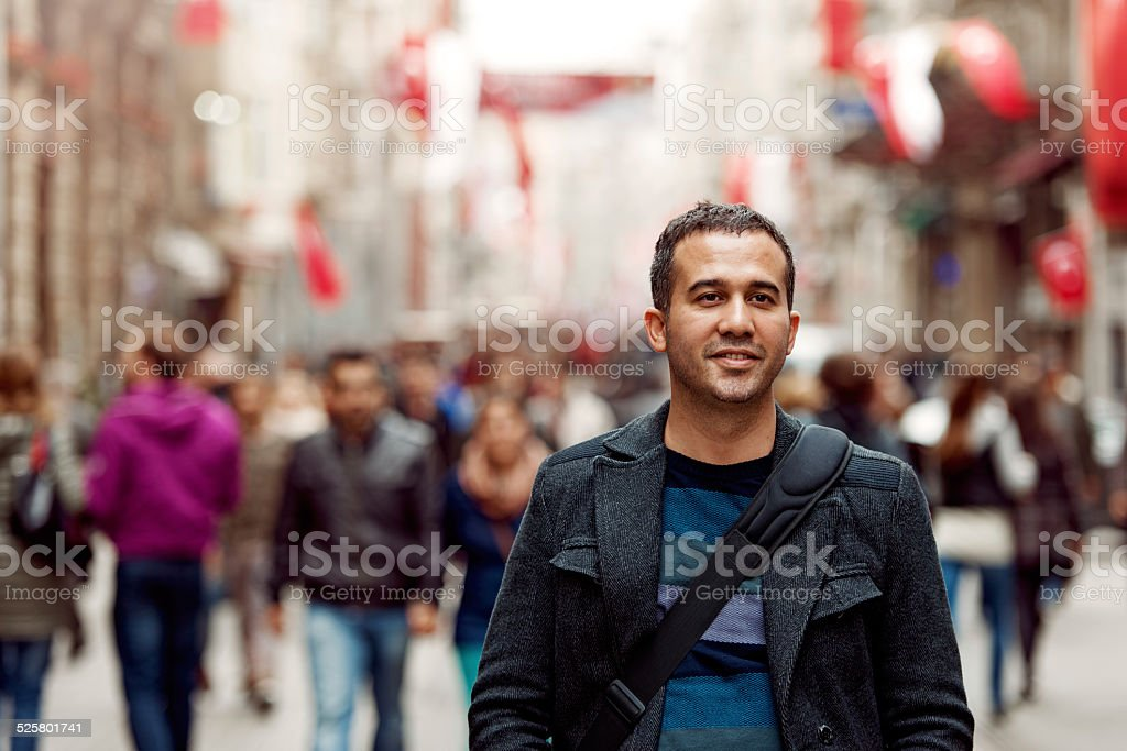 Turkish man in Taksim stock photo
