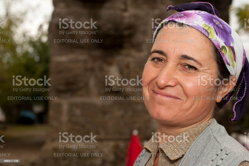 Turkish mature woman portrait royalty-free stock photo
