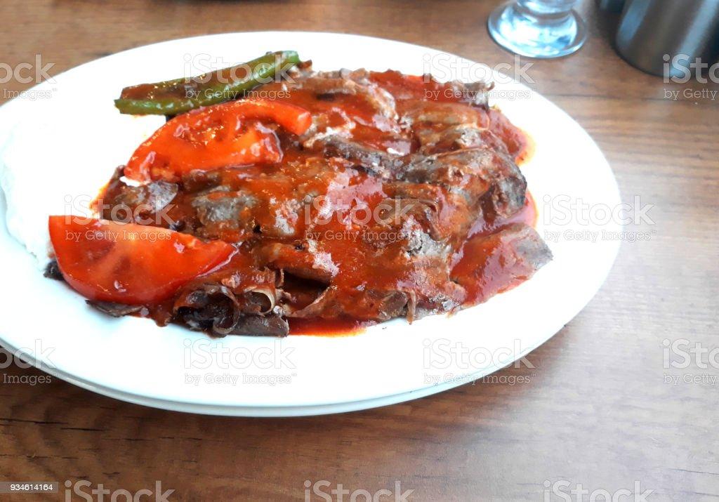 Turkish meat kebap stock photo