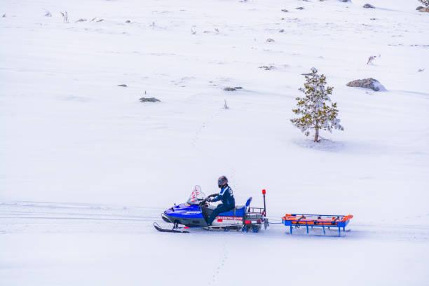 Turkish Military Police Patrols On Kartalkaya Ski Resort Stock Photo