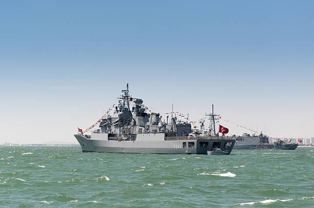 exército turco navio - fragata - fotografias e filmes do acervo